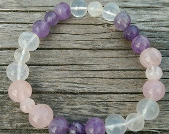 R.A.C. Bracelet (Rose Quartz, Amethyst & Clear Quartz)