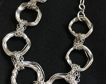 Sterling Silver Multi Loop Bracelet