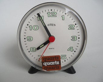 EMES german alarm clock,Müller-Schlenker alarm clock,not used clock with packing and original sticker,quarz alarm clock,german alarm clock