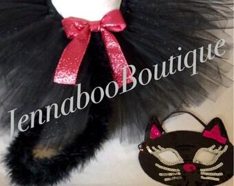 Cat costume, black cat costume, baby cat costume, adult cat costume, halloween cat costume, cat mask, black cat tutu,  girl cat costume