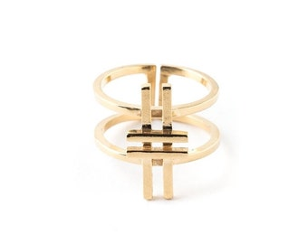 ON SALE Double Hashtag Ring