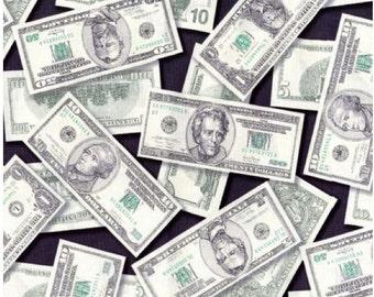 Money Fabric Greenbacks Pleasures and Pastimes  Robert Kaufman Fabric Cash Fabric Dollar Bills