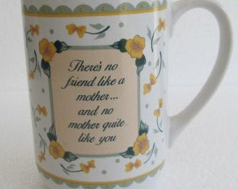 "NEW ""There's No Friend like a Mother... and No Mother Quite Like You"" Novelty Coffee Mug"