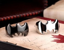 Batman Batgirl Engagement Ring Stainless Steel Gift Superhero
