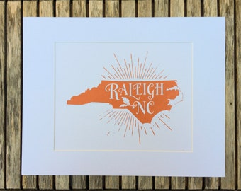 Raleigh, NC Screenprint | Matted