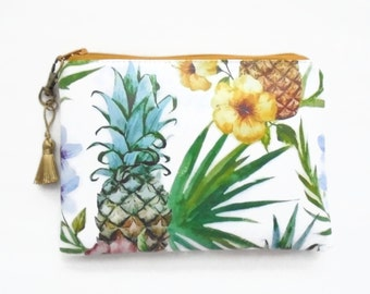 Waterproof Pineapple Ladies Wallet/Glasses case/toiletries/Make-up/Tampons/Coin Purse