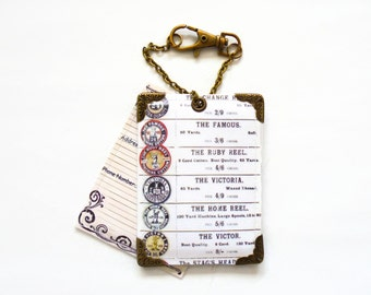 Vinyl Vintage Cotton Reels Luggage tags, baggage tags, travel tags