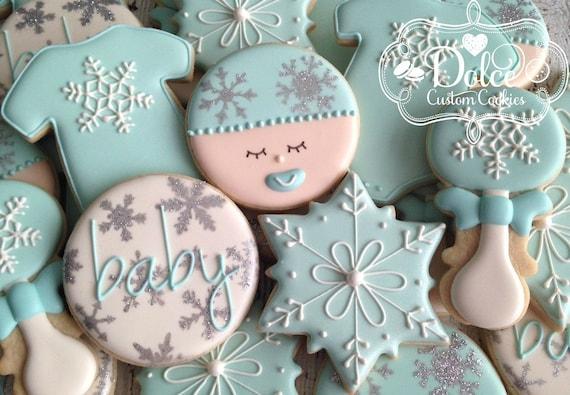 Winter Wonderland Baby Shower Cookies