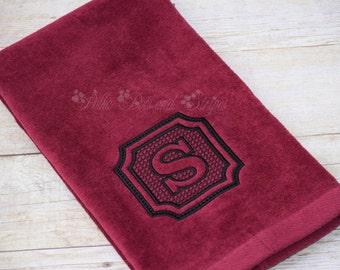 Embossed Monogrammed Hand Towel