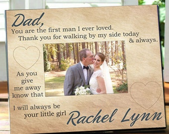 Always Your Little Girl Personalized Picture Frame - Holds 4x6 Photo