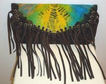 Must See 1970's Brown Multi Fringe Clutch