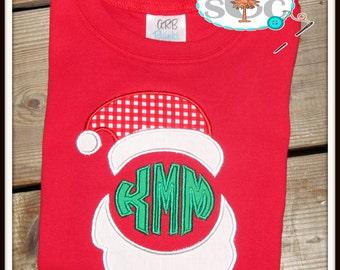 Christmas Santa Monogrammed Shirt/Bodysuit