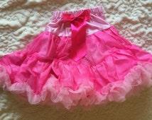 Pink Pettiskirt Tutu with Ruffles Size Medium 6 to 9 Years