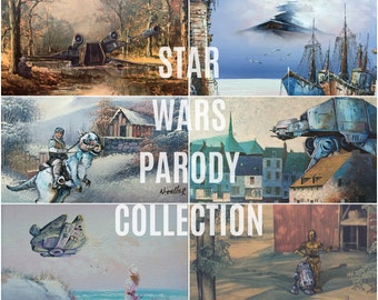 Star Wars Parody Collection - Entire Set, or Choose - Limited Edition Prints or Posters- Funny Star Wars Gift Set for Star Wars Fan Parody