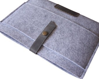 Macbook Air Sleeve Case, iPad pro Covers, Dark Gray 100% Wool Felt MacBook Pro Covers, Custom Tablet Felt Bags