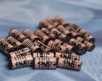26 sheet music paper beads