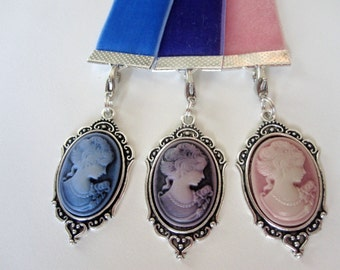 Velvet Ribbon Bookmark w/ Cameo