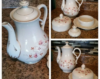 Vintage Pitcher and Dish set