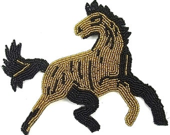 "Horse Applique, All Beads, 5.5"" x 5""  -1140-276-0248"