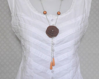 Necklace brown (camel)