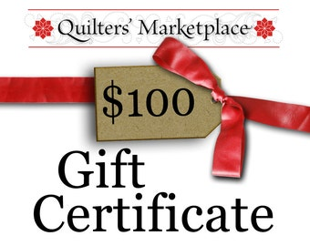 Gift Certificate - One Hundred Dollars