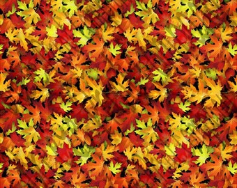 Autumn leaves pattern printed craft vinyl sheet - HTV or Adhesive Vinyl -  fall leaf  HTV5050