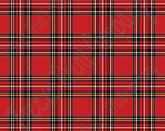 Red tartan plaid craft  vinyl sheet - HTV or Adhesive Vinyl -  HTV1800
