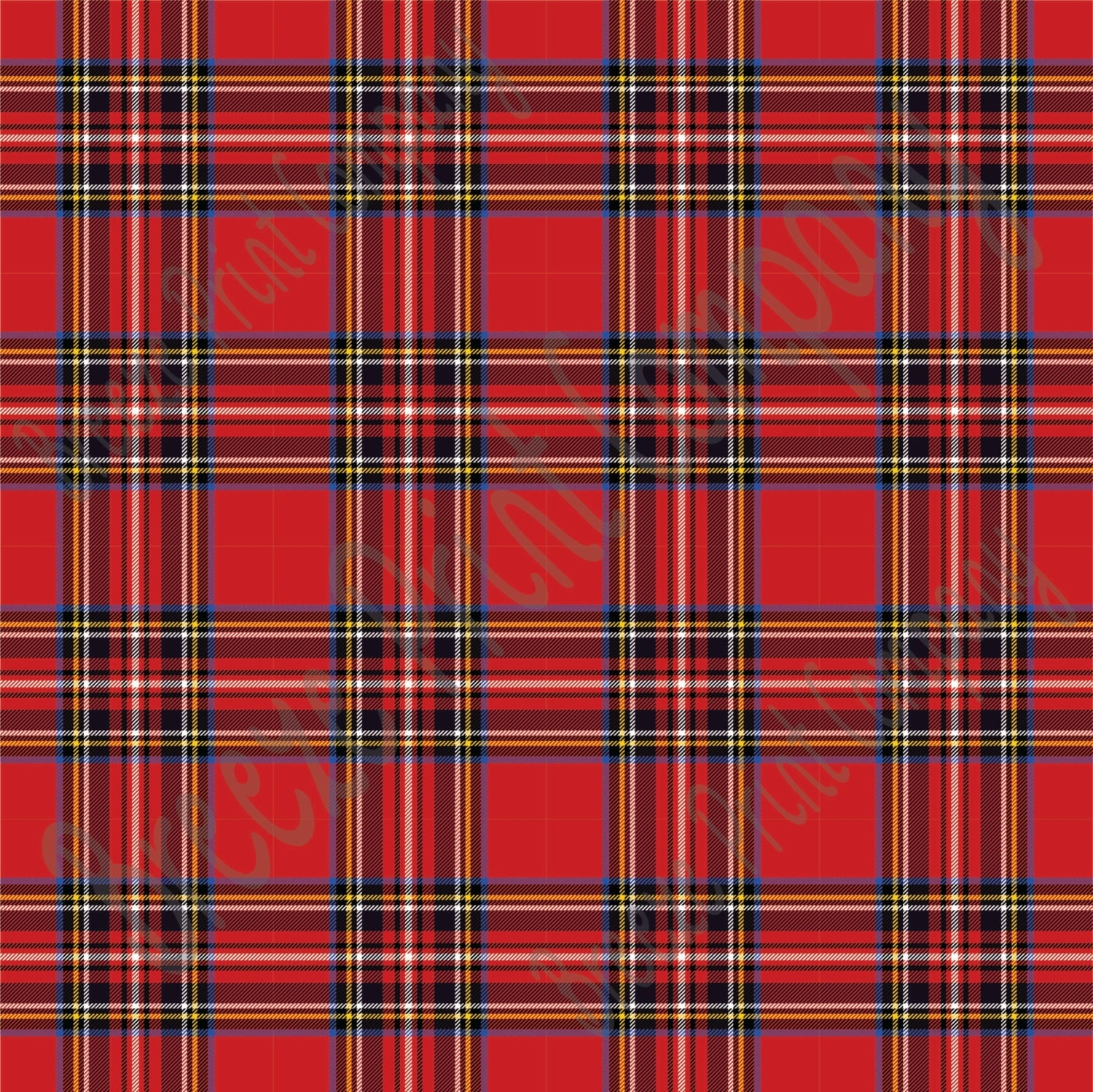 Red Tartan Plaid Heat Transfer Or Adhesive Vinyl Sheet