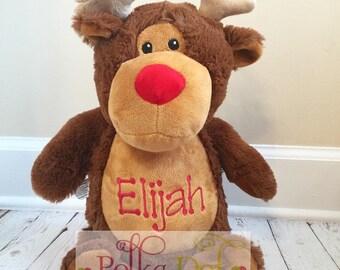Embroidered Christmas/Holiday reindeer with name
