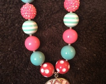 Pink Umbrella Necklace
