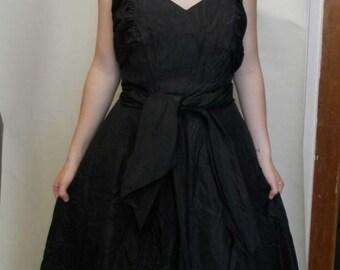 Original 1940s Black Dress (UK size 8)