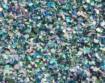 Frozen Magical Winter Confetti Biodegradable Wedding Party Aqua Turquoise Blue Green Lilac Decorations (25 Guests)