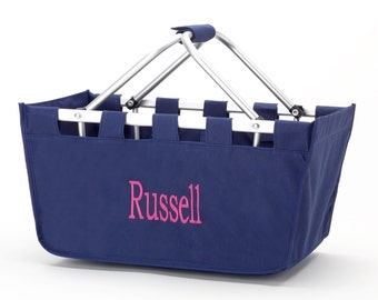Personalized Market Tote-Navy