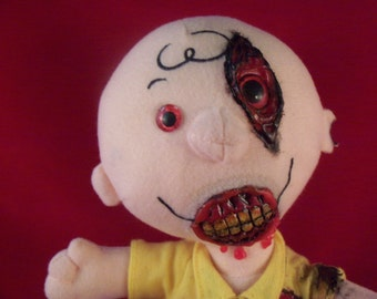 Zombie Plush Charlie Brown Doll