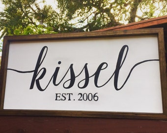 Custom Last Name Family Name Sign Wood Sign Personalized