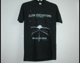 1977 Very Rare Close Encounters of the Third Kind Vtg. New T~Shirt~Super Thin 50/50 Allison~Size Adult Medium ~ See Dimensions Below