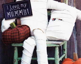I LOVE MY MUMMY   -  IJ1157CC   Halloween Mummy Doll & Pillow for Decoration  By: Amy Barickman/Indygo Junction