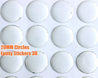 20MM round epoxy stickers, self adhensive stickers, 3D clear epoxy sticers for pendant tray settings scrapbooking craft supply 20MM circle