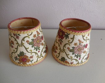 A Pair of French vintage tapestry lampshades #2
