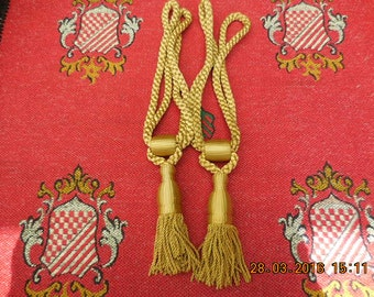 A Vintage pair of French Curtain Tie Backs