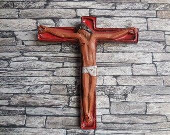 Mid Century Design Ceramic Modernist Crucifix