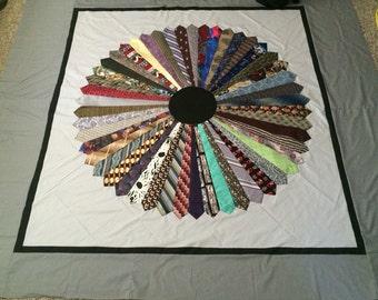 commissioned queen size necktie quilt
