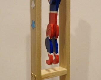 Acrobat Man, wooden folk toy