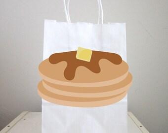 Pancakes Goody Bags, Pancakes Favor Bags, Pancakes Gift Bags, Pancakes Goodie Bags, Pancakes and Pajamas Party