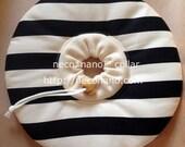 "neco*nano collar ""Horizontal stripe"" ""Black"""