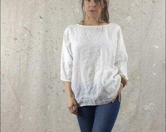 Loose Light Linen Shirt / Top / Blouse