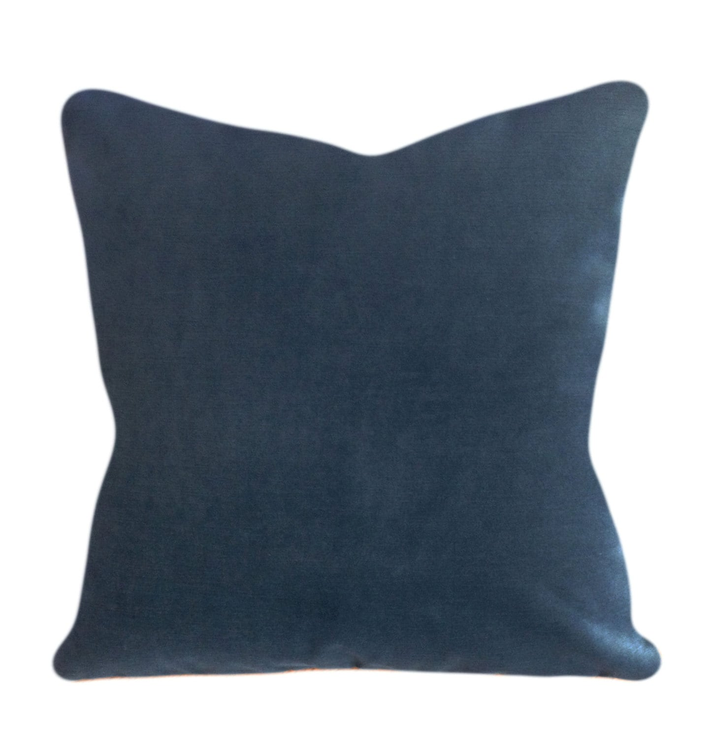 Peacock Blue Throw Pillow : Blue Velvet Peacock Decorative Pillow Cover by PillowTimeGirls