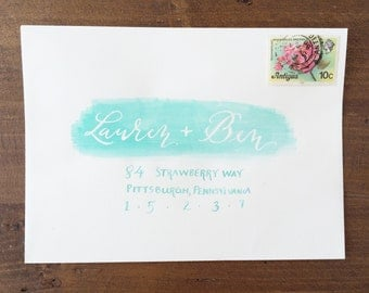 Calligraphy Watercolor Envelope