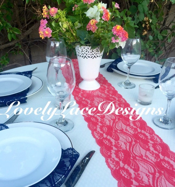 Items similar to coral lace table runner 12ft 20ft long x for 12 foot table runner