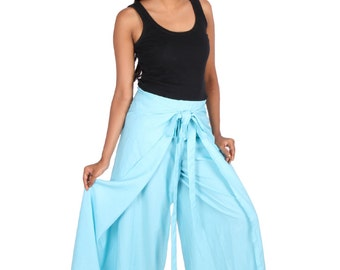 Womens Beach Boho Wrap pants in Cotton, Plus size.